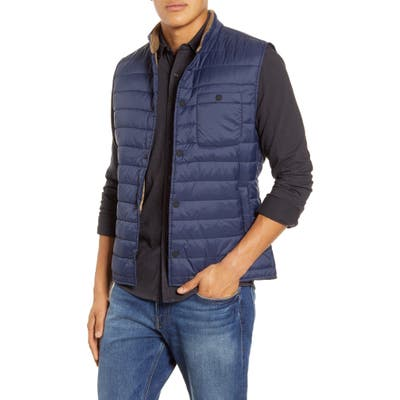 Faherty Atmosphere Quilted Vest, Blue