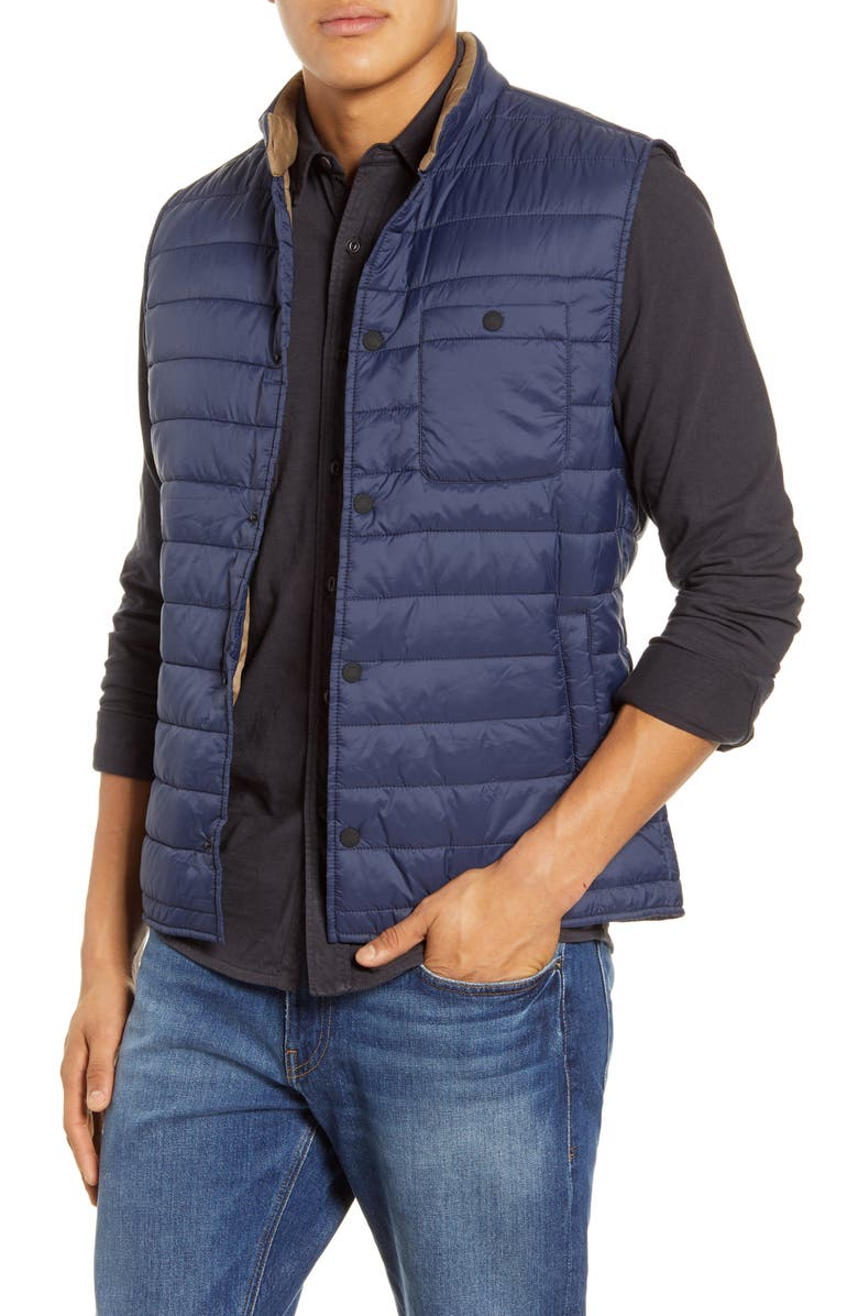 FAHERTY Atmosphere Quilted Vest, Main, color, BLUE/ BLUE