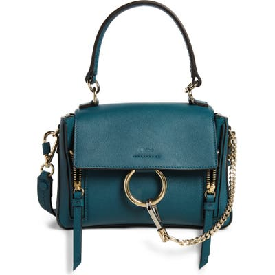 Chloe Mini Faye Day Leather Crossbody Bag - Blue
