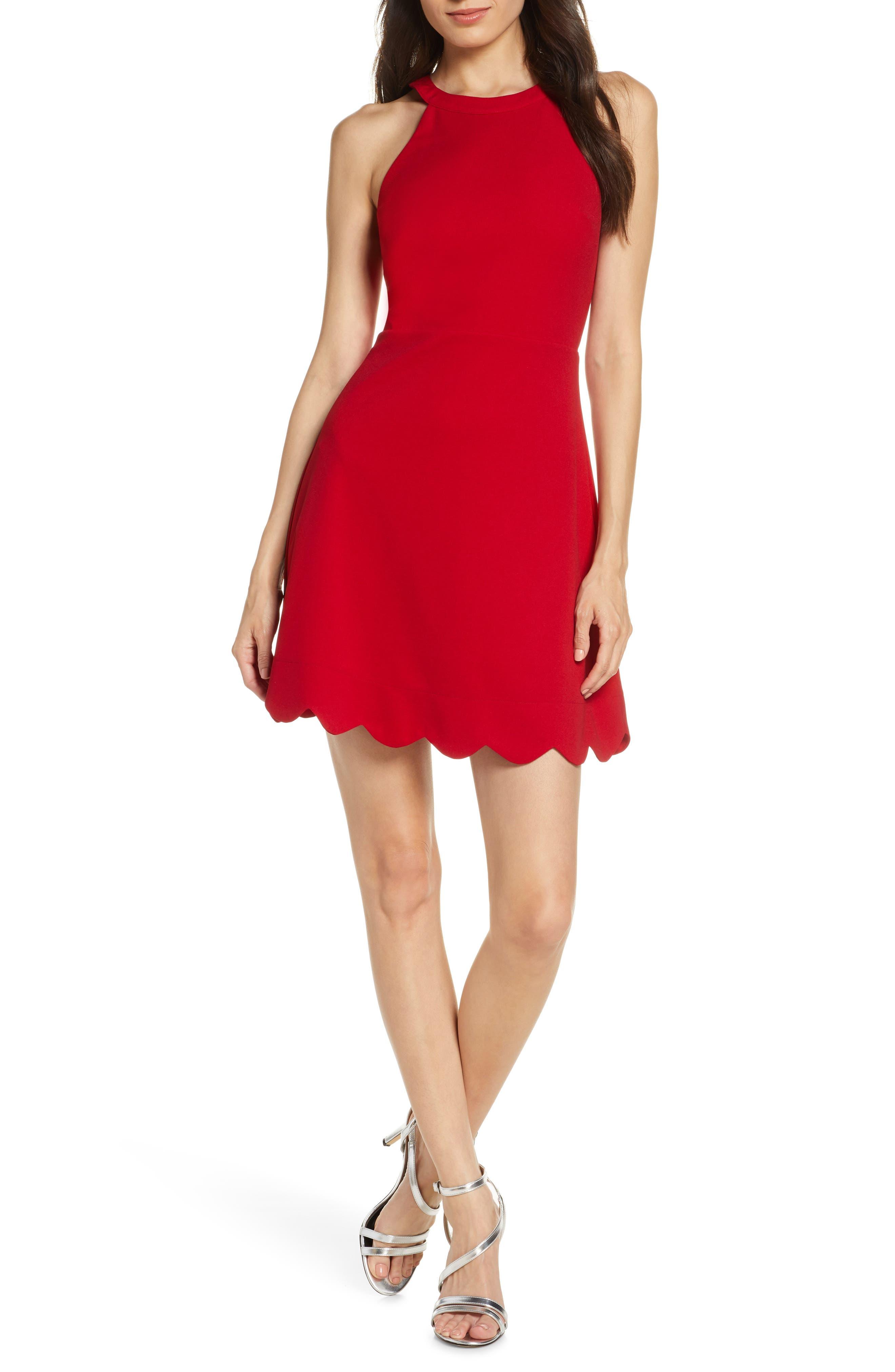 Lulus Mamacita Halter Minidress, Red