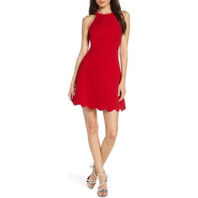 Lulus Mamacita Halter Minidress, Red