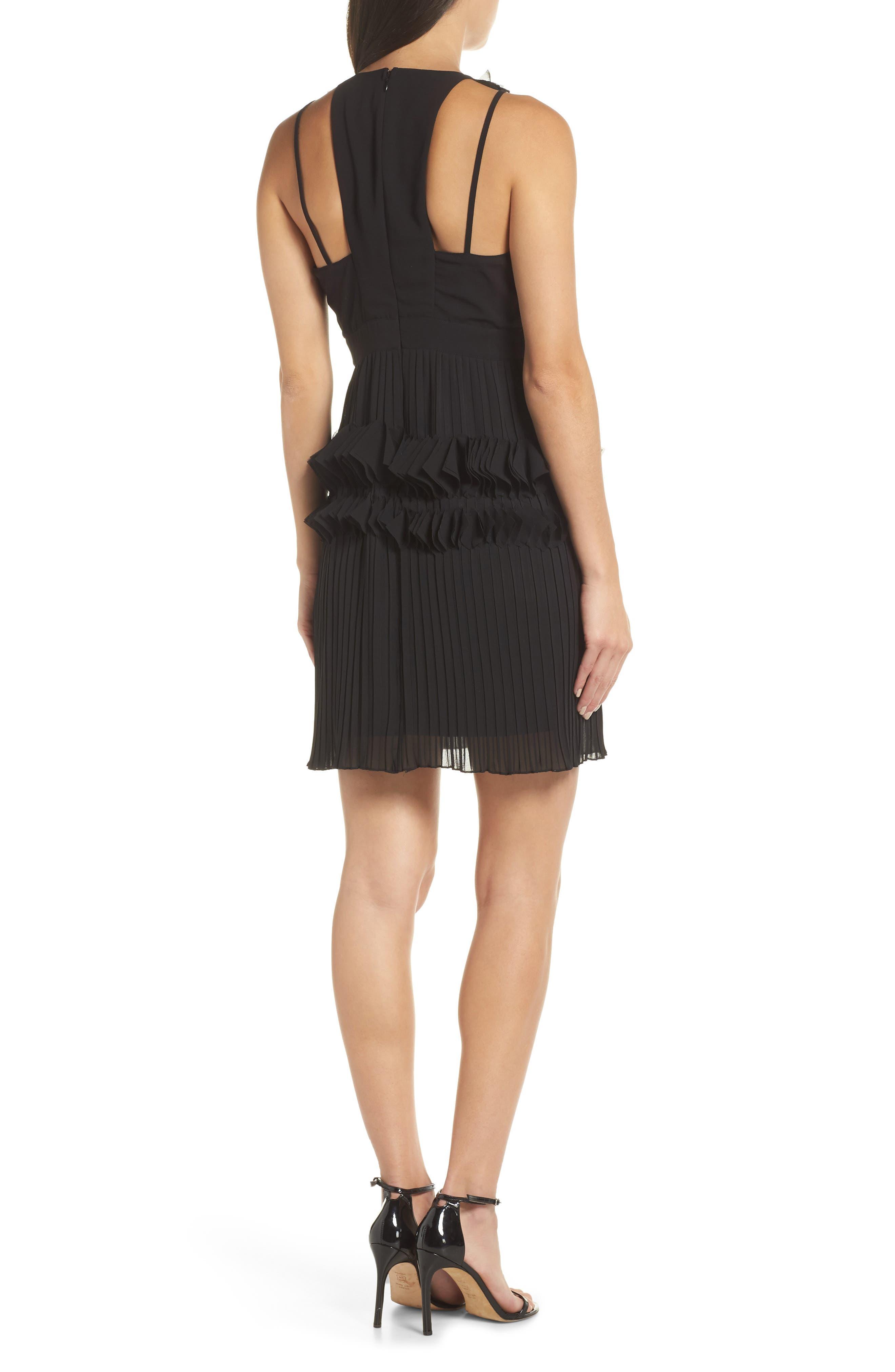 ,                             Love Ruffle Dress,                             Alternate thumbnail 2, color,                             BLACK