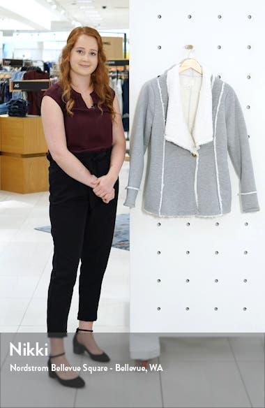 Caslon Fleece Lined Knit Jacket, sales video thumbnail