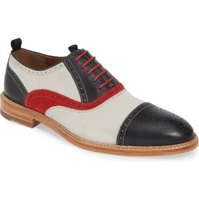 J & m 1850 Chambliss Medallion Toe Oxford, White
