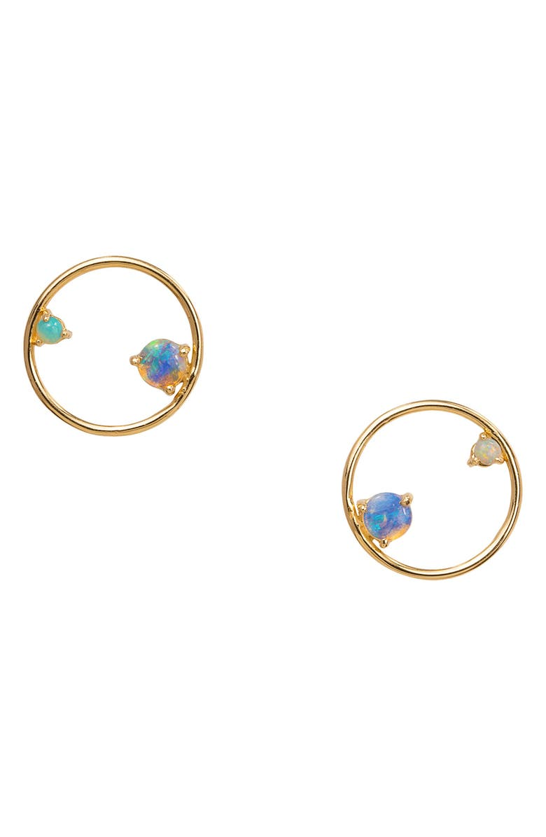 WWAKE Opal Circle Earrings, Main, color, 710