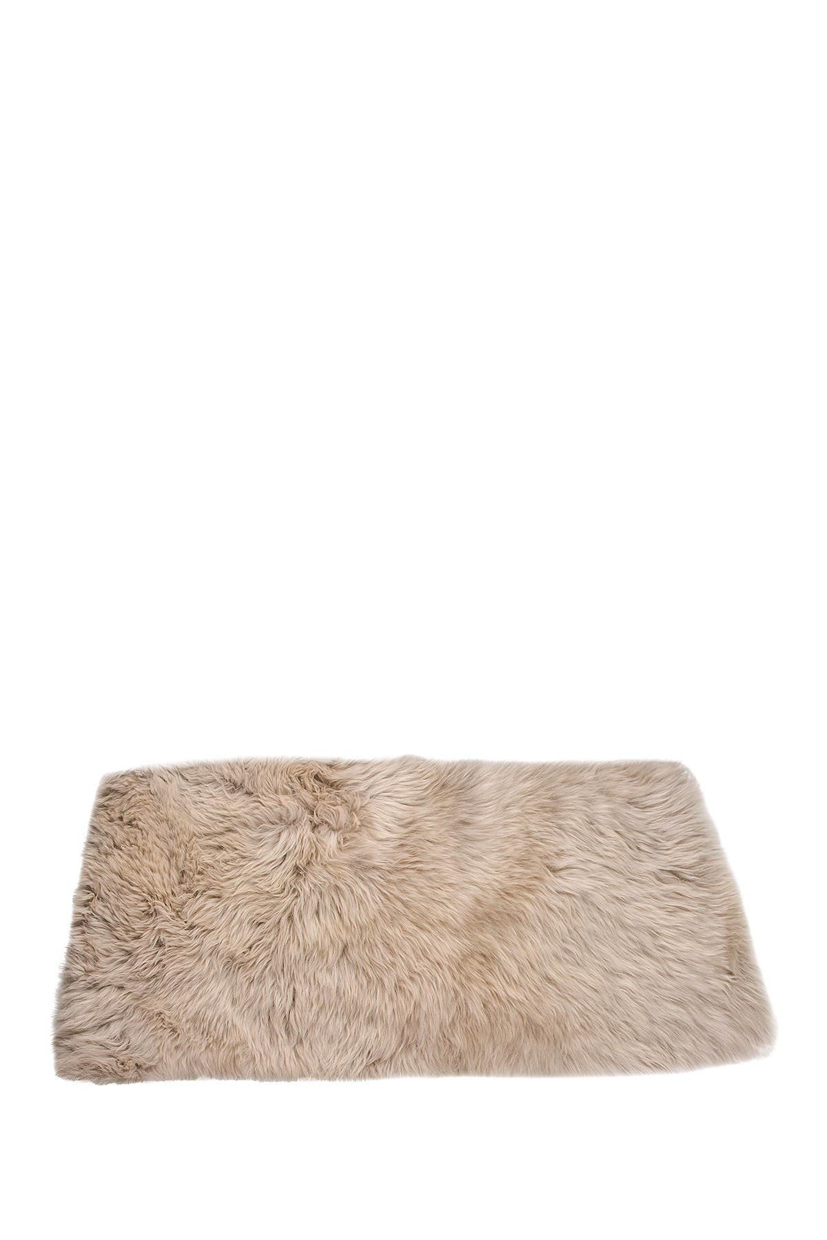 Image of Natural New Zealand Rectangular Sheepskin Throw - 3ft X 5ft - Taupe