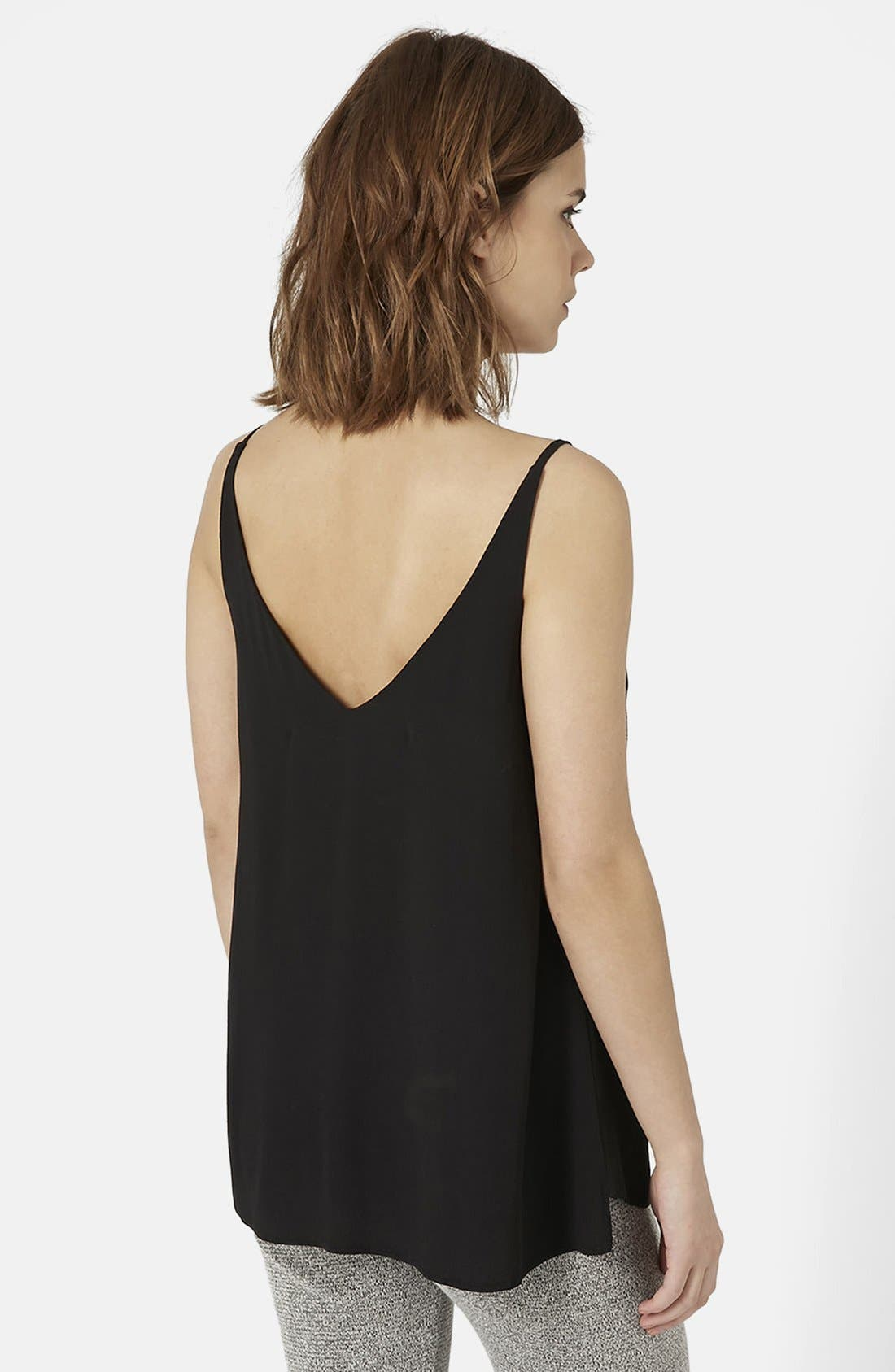 ,                             Strappy V-Neck Camisole,                             Alternate thumbnail 2, color,                             001