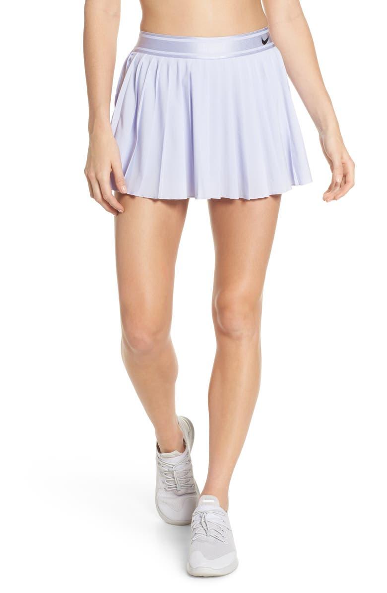 NIKE Court Victory Tennis Skirt, Main, color, OXYGEN PURPLE/ BLACK