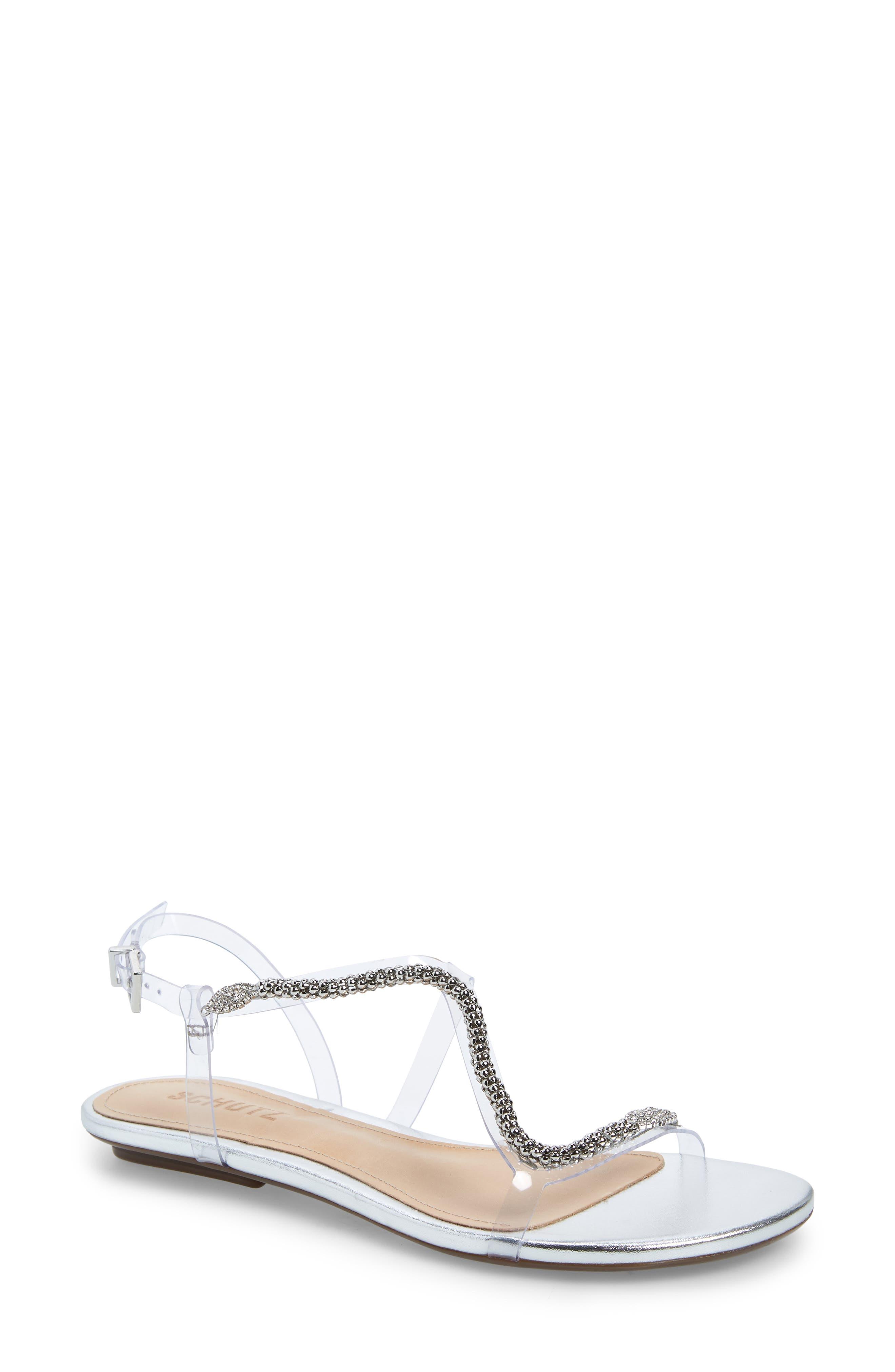 Schutz Gabbyl Embellished Sandal, Metallic