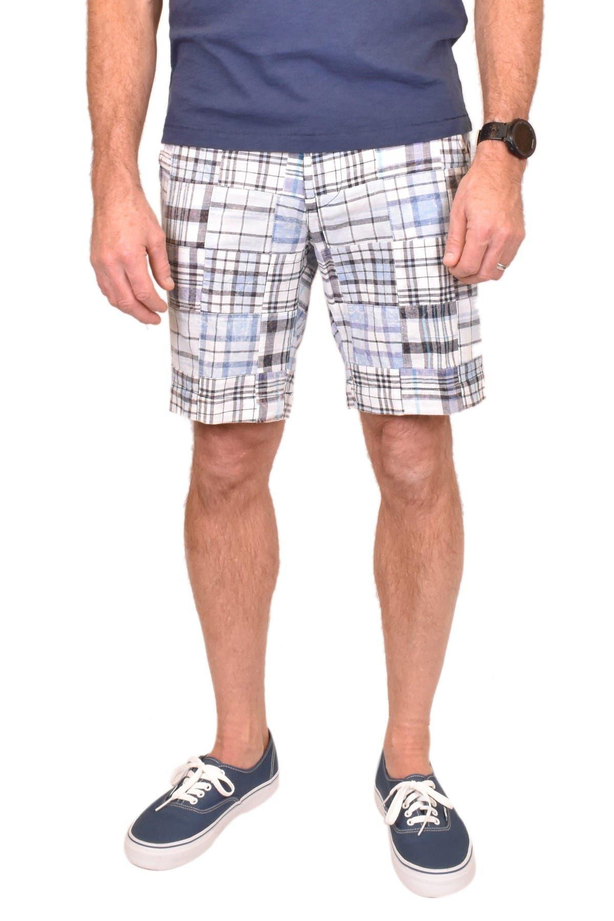 Vintage Shorts 1946 PATCH MADRAS PRINT FLAT FRONT SHORTS