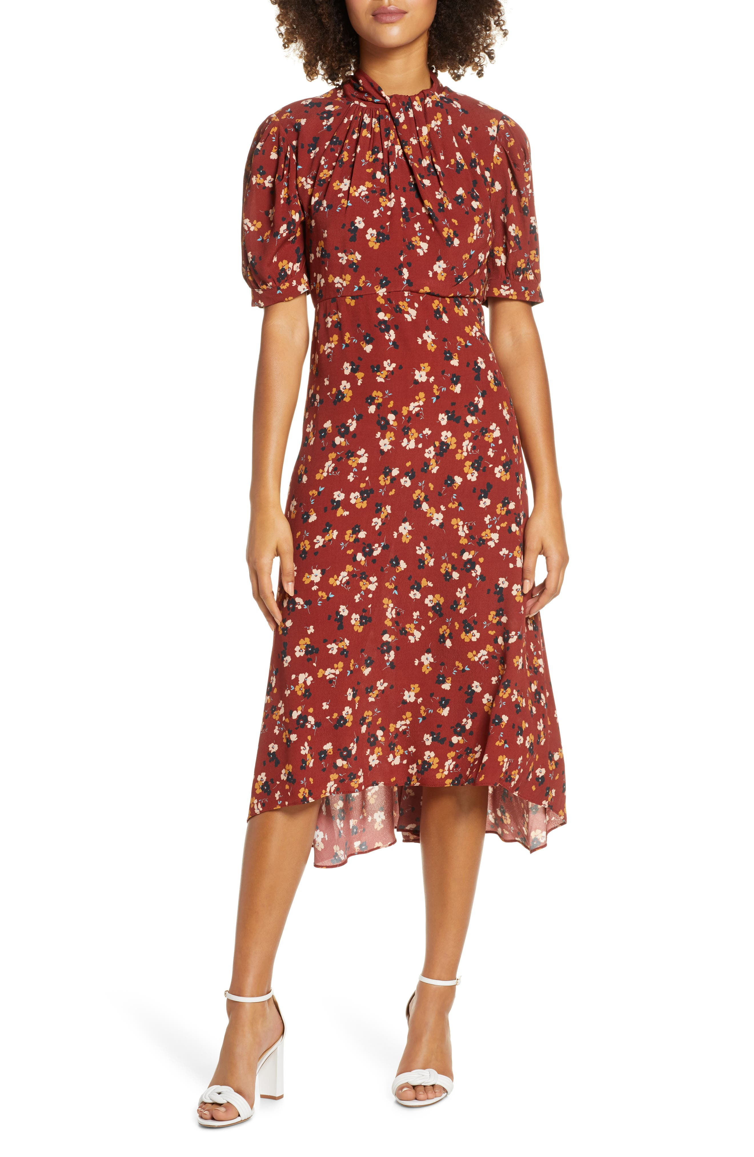 1930s Day Dresses, Afternoon Dresses History Womens Ever New Ditzy Floral Highlow Dress $159.00 AT vintagedancer.com