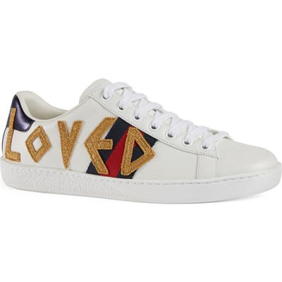 Gucci New Ace Loved Sneakers - White