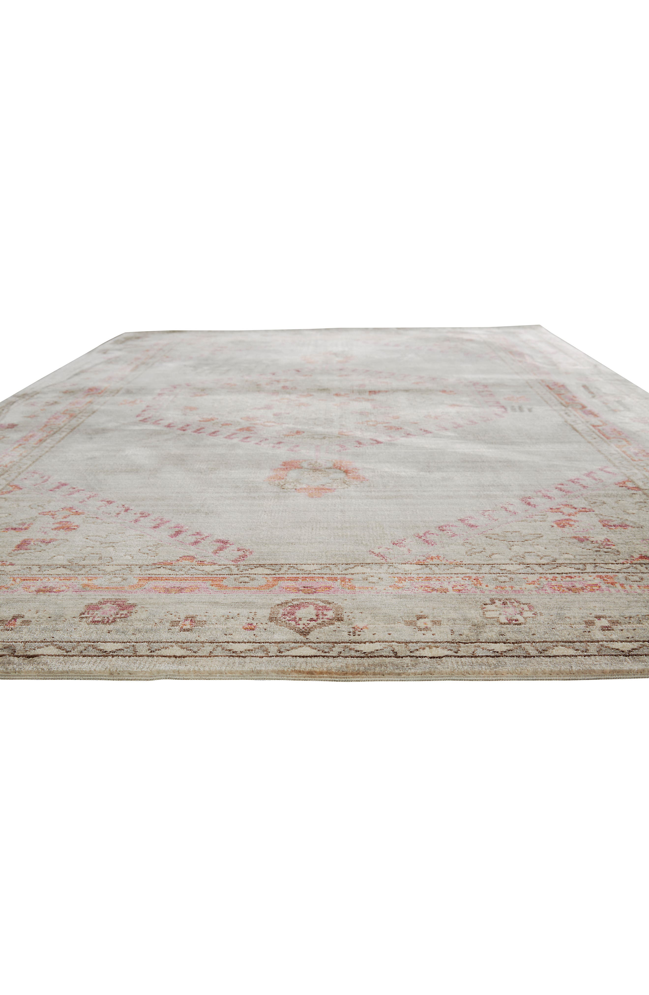 ,                             Contemporary Vintage Rug,                             Alternate thumbnail 4, color,                             PINK/ GREY