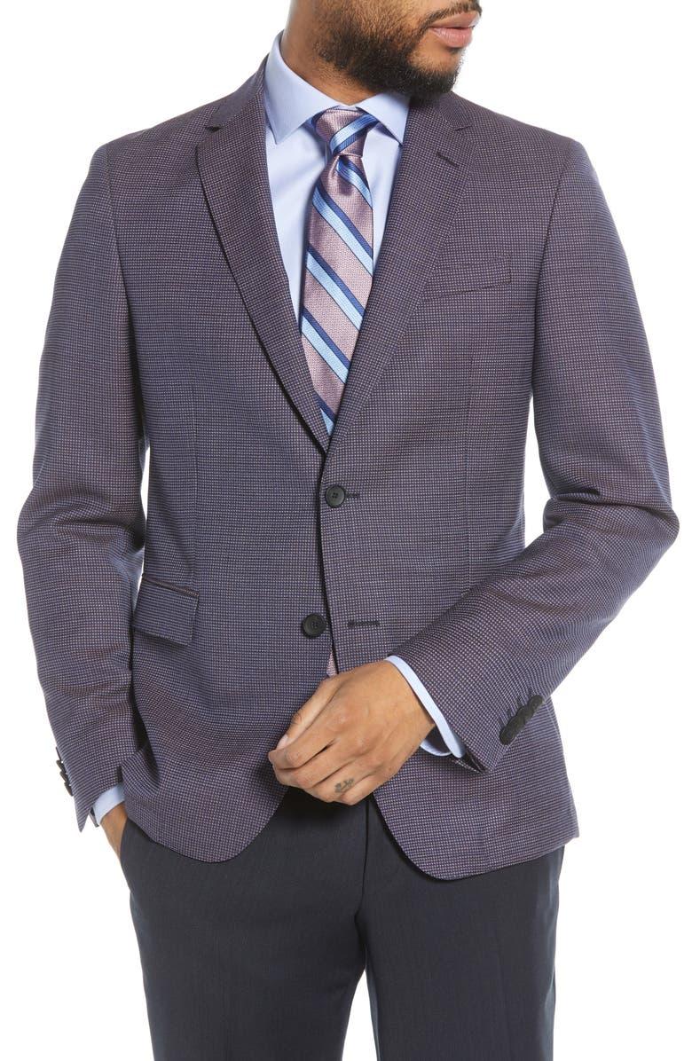BOSS Nobis Trim Fit Wool Sport Coat, Main, color, 400