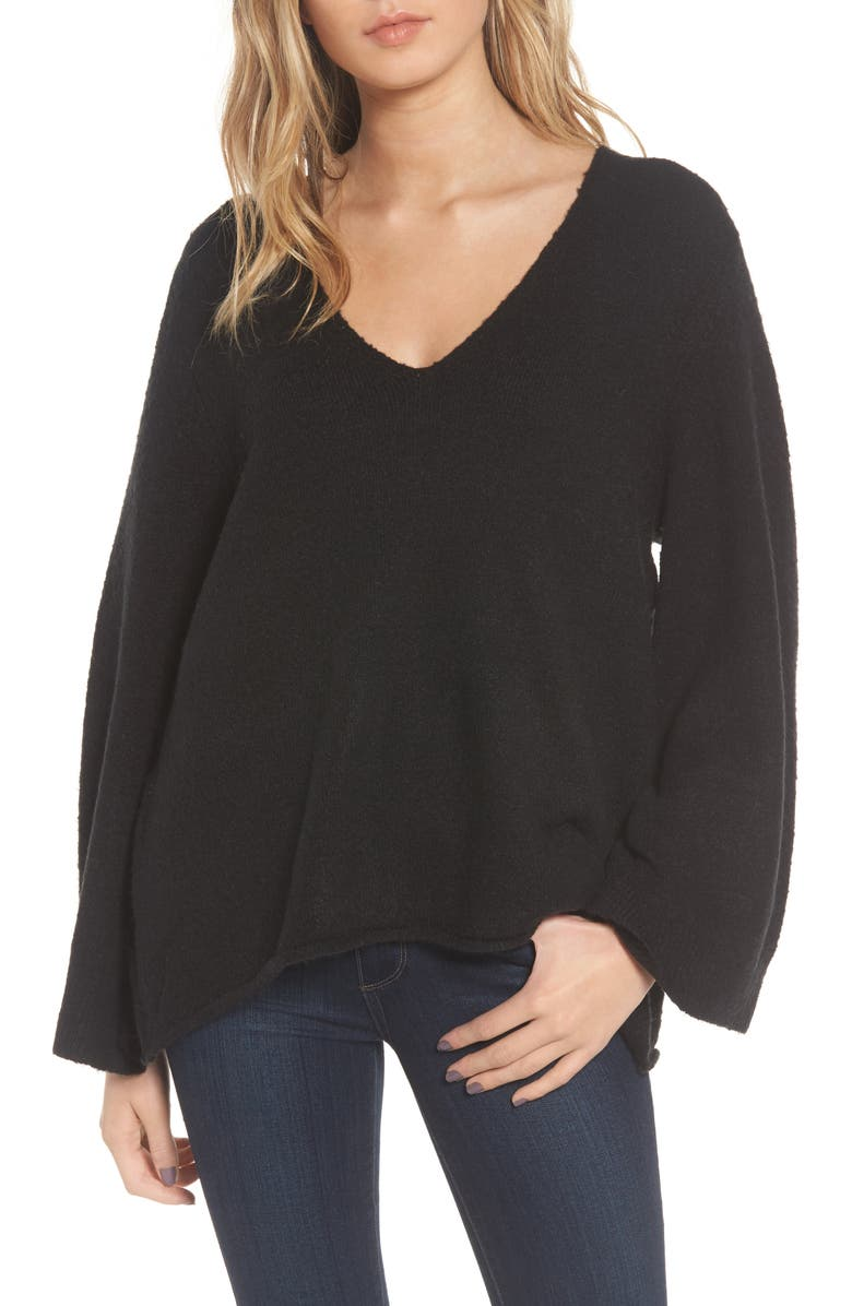 FRENCH CONNECTION Urban Flossy Sweater, Main, color, 001