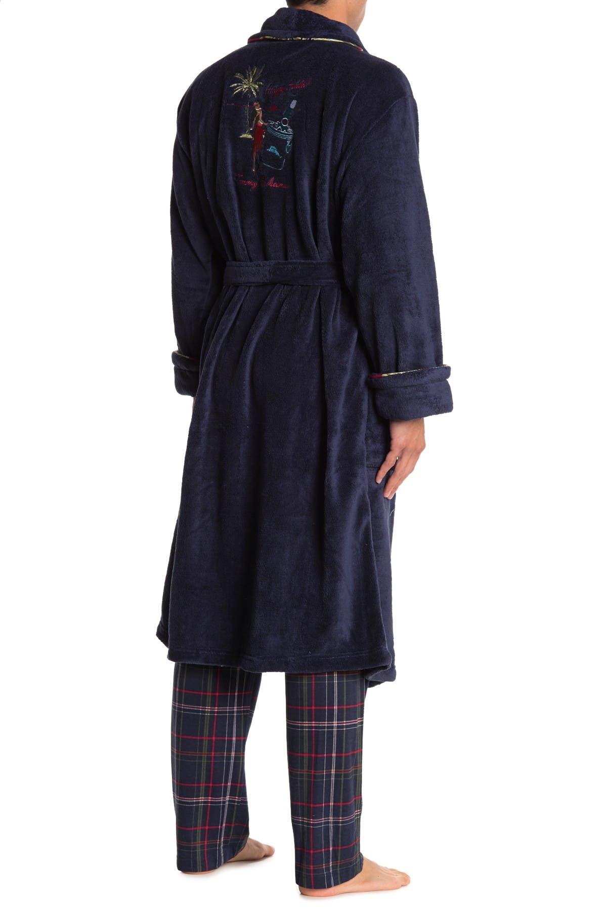 Image of Tommy Bahama Embroidered Back Plush Fleece Robe
