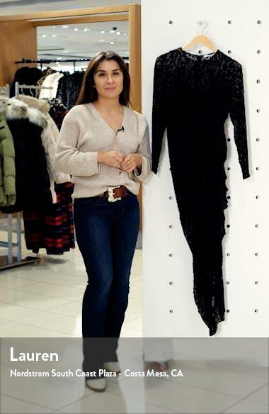 Lala Animal Devoré Long Sleeve Dress, sales video thumbnail