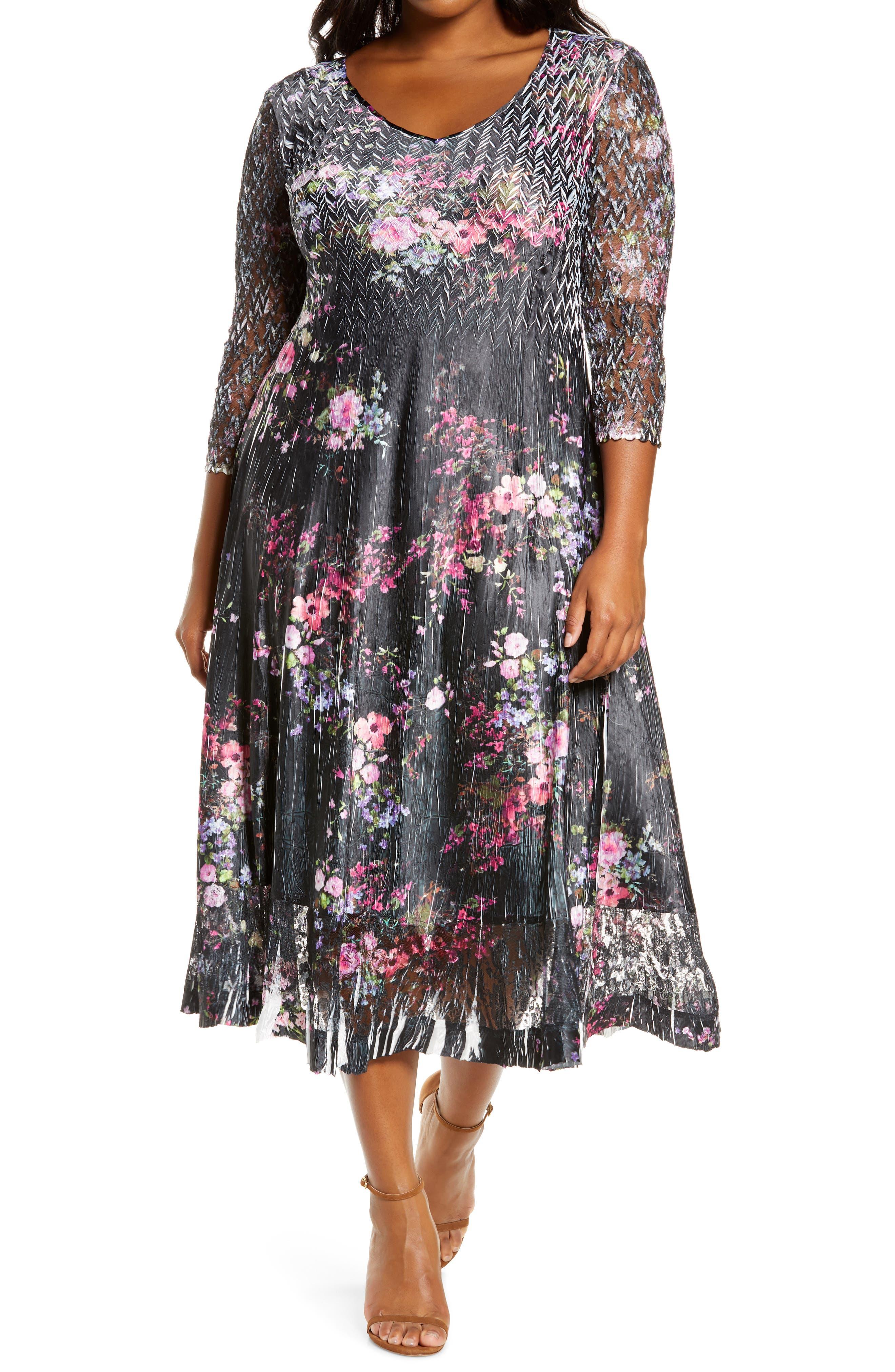 Komarov Charm Print Dress (Plus Size)   Nordstrom