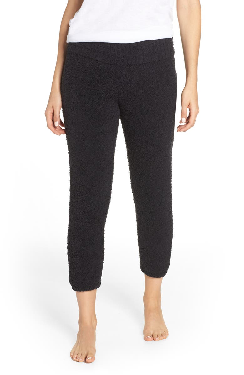 UGG<SUP>®</SUP> Valentene Fuzzy Jogger Pants, Main, color, BLACK