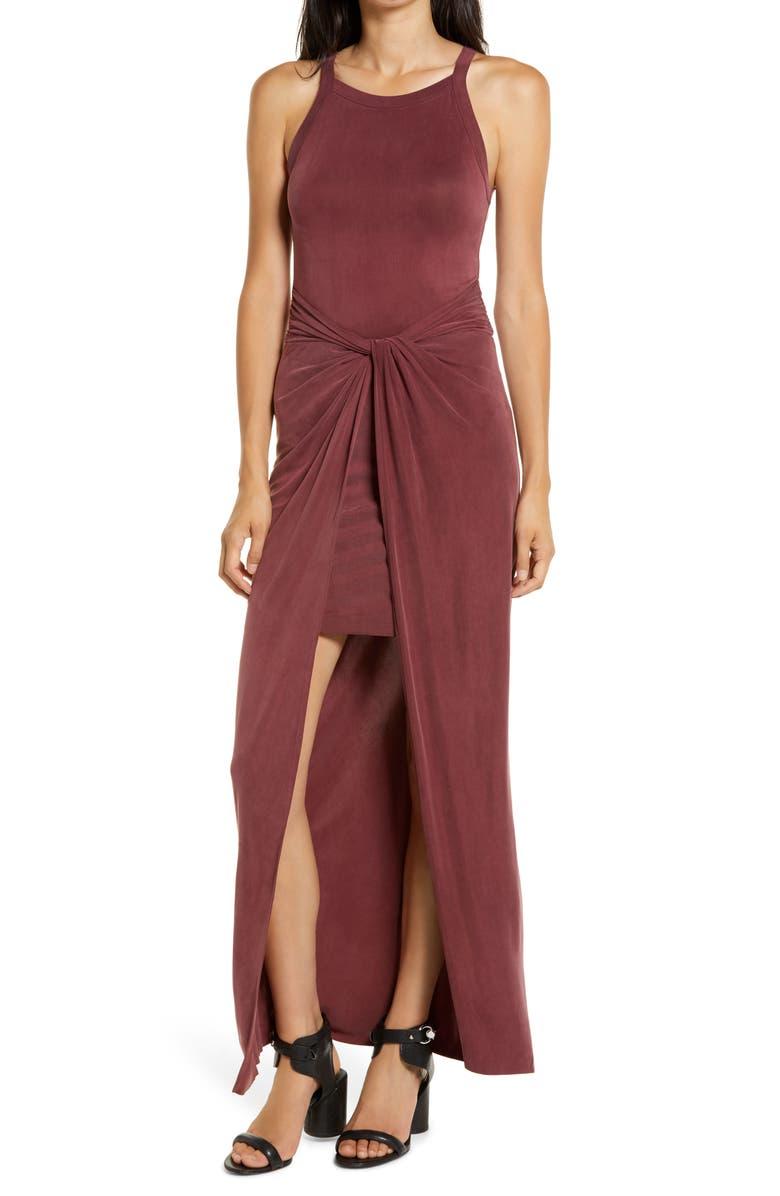 ALLSAINTS Sami Sleeveless Maxi Dress, Main, color, OXBLOOD RED
