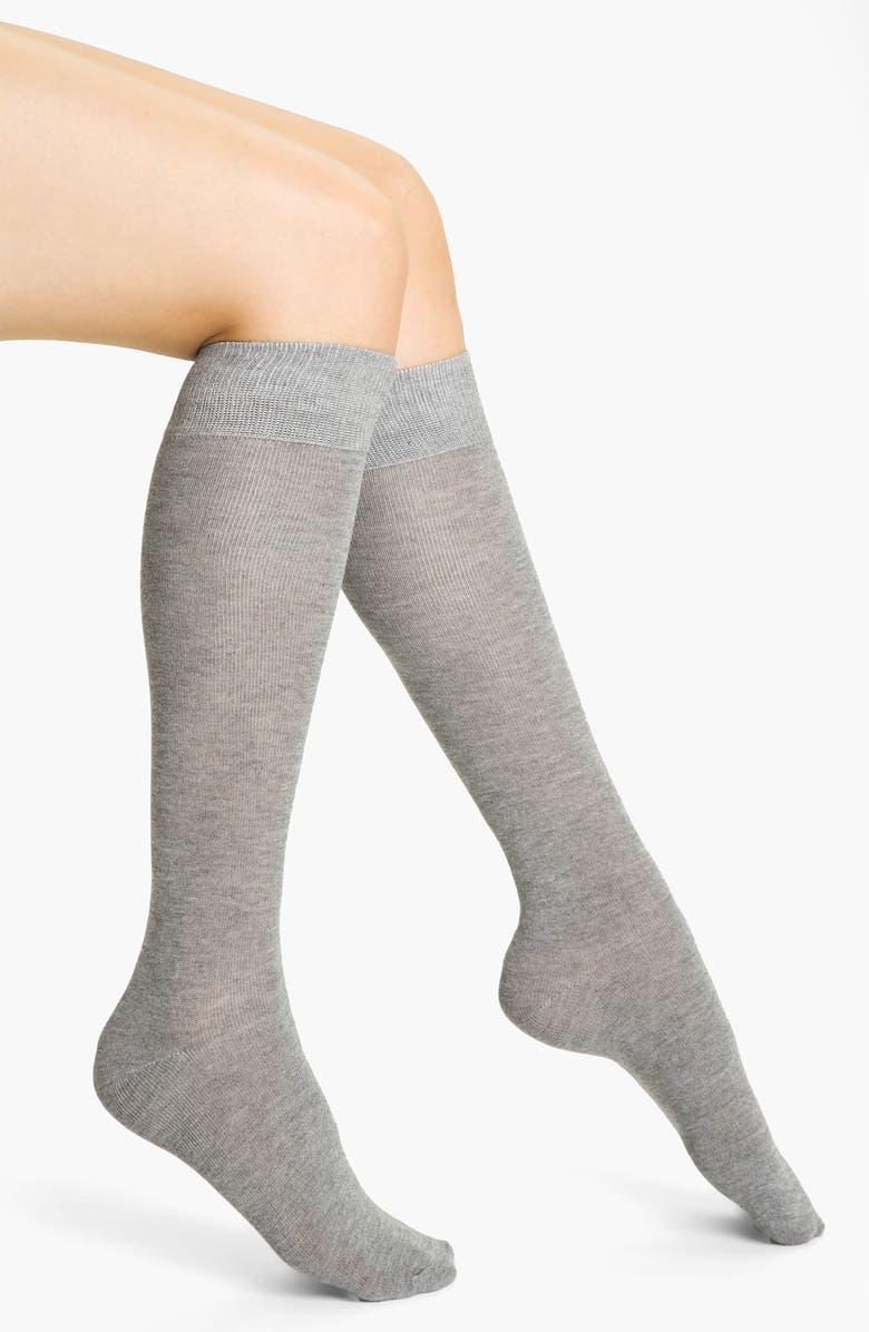 NORDSTROM Heathered Knee High Socks, Main, color, 060