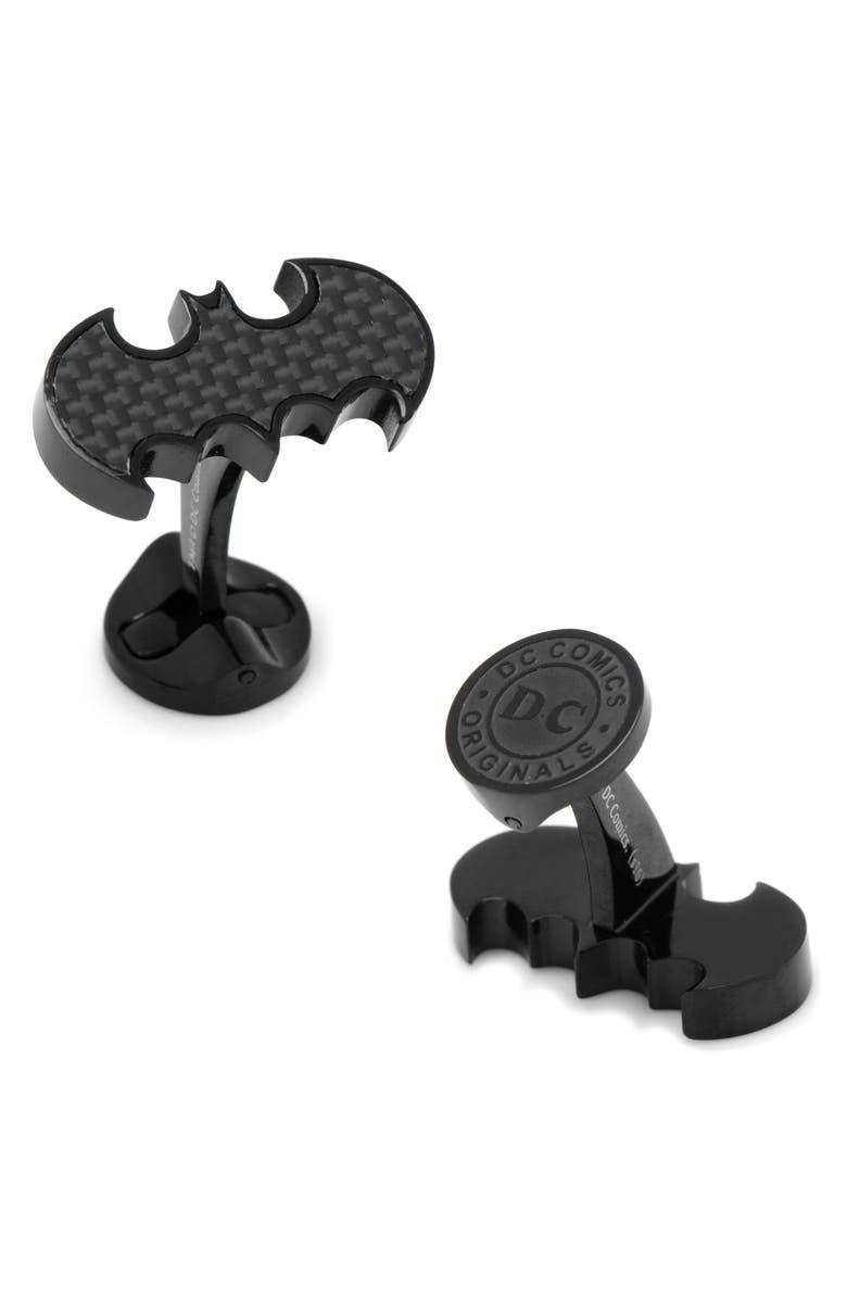 CUFFLINKS, INC. Batman Cuff Links, Main, color, BLACK