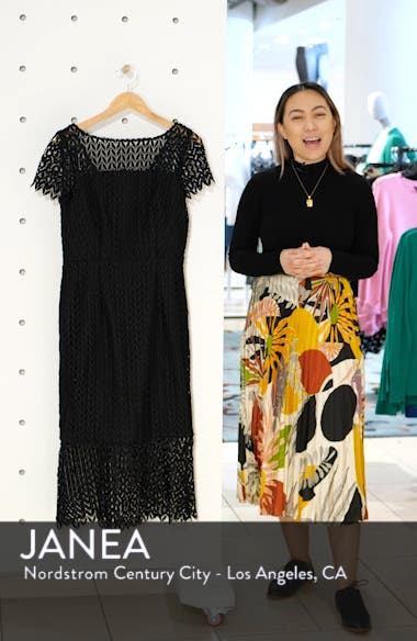 Fishnet Lace Sheath Dress, sales video thumbnail