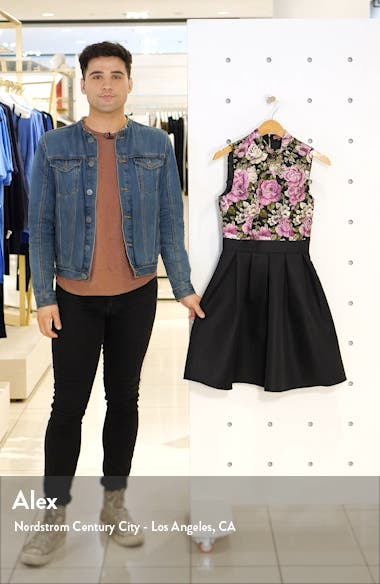 Sabreen Jacquard Fit & Flare Dress, sales video thumbnail
