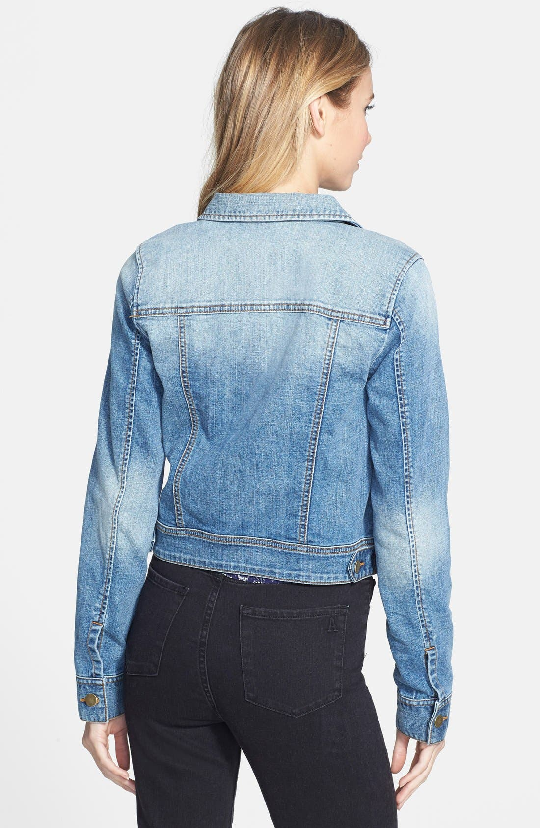 ,                             Denim Jacket,                             Alternate thumbnail 3, color,                             401