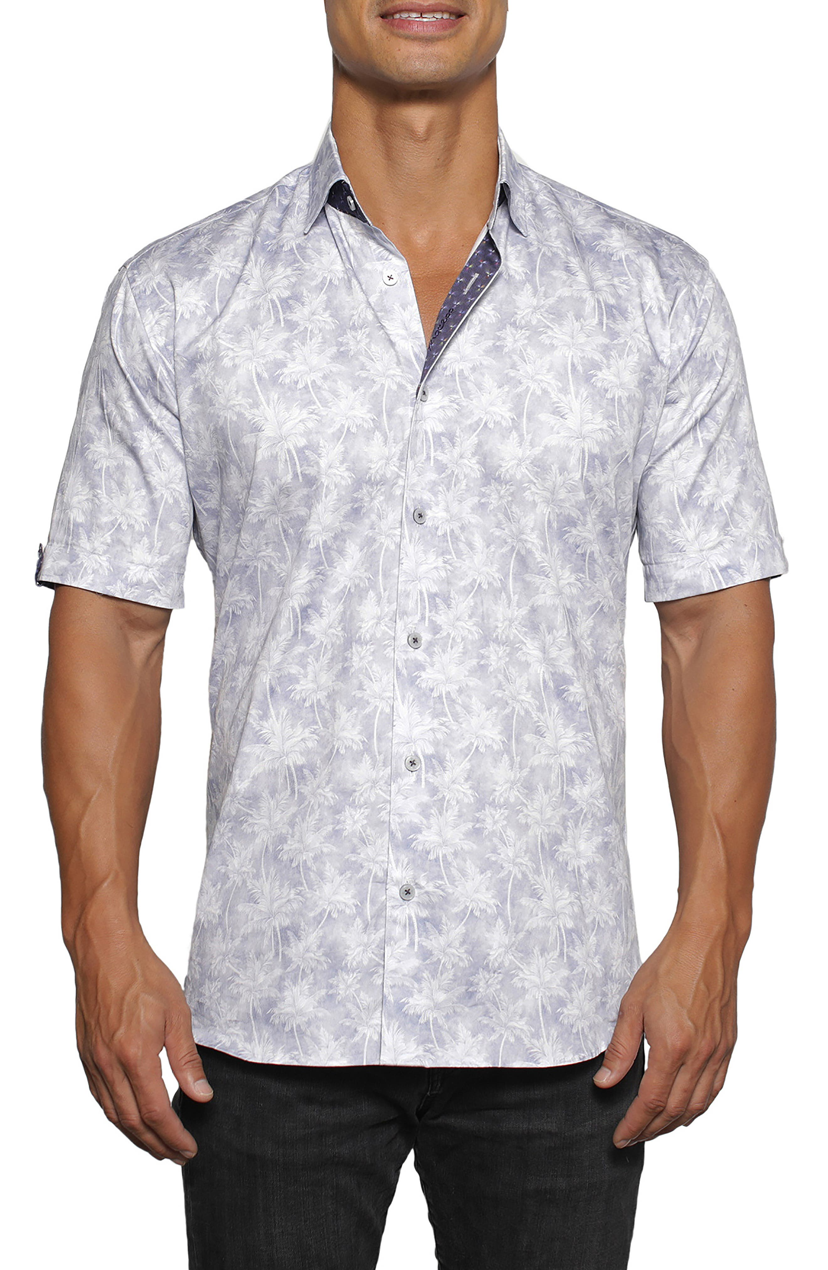 Galileo Hawaii Regular Fit Short Sleeve Button-Up Shirt
