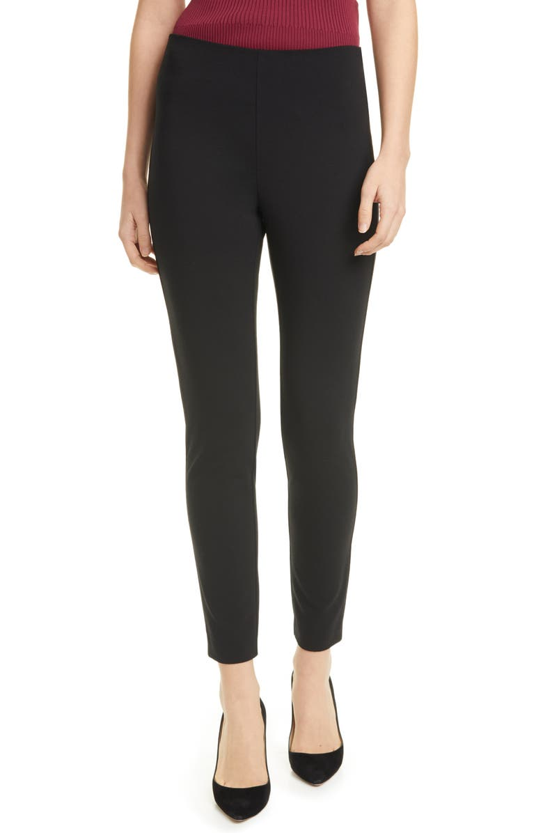 BOSS Telestana Slim Ankle Pants, Main, color, BLACK
