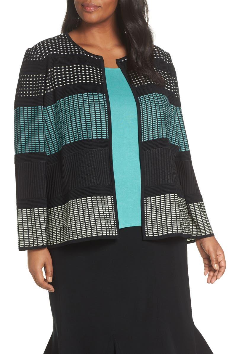 Ming Wang Knit Jacket Plus Size