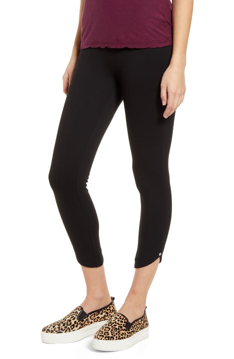 LYSSÉ Jasmyne Crop Leggings, Main, color, BLACK