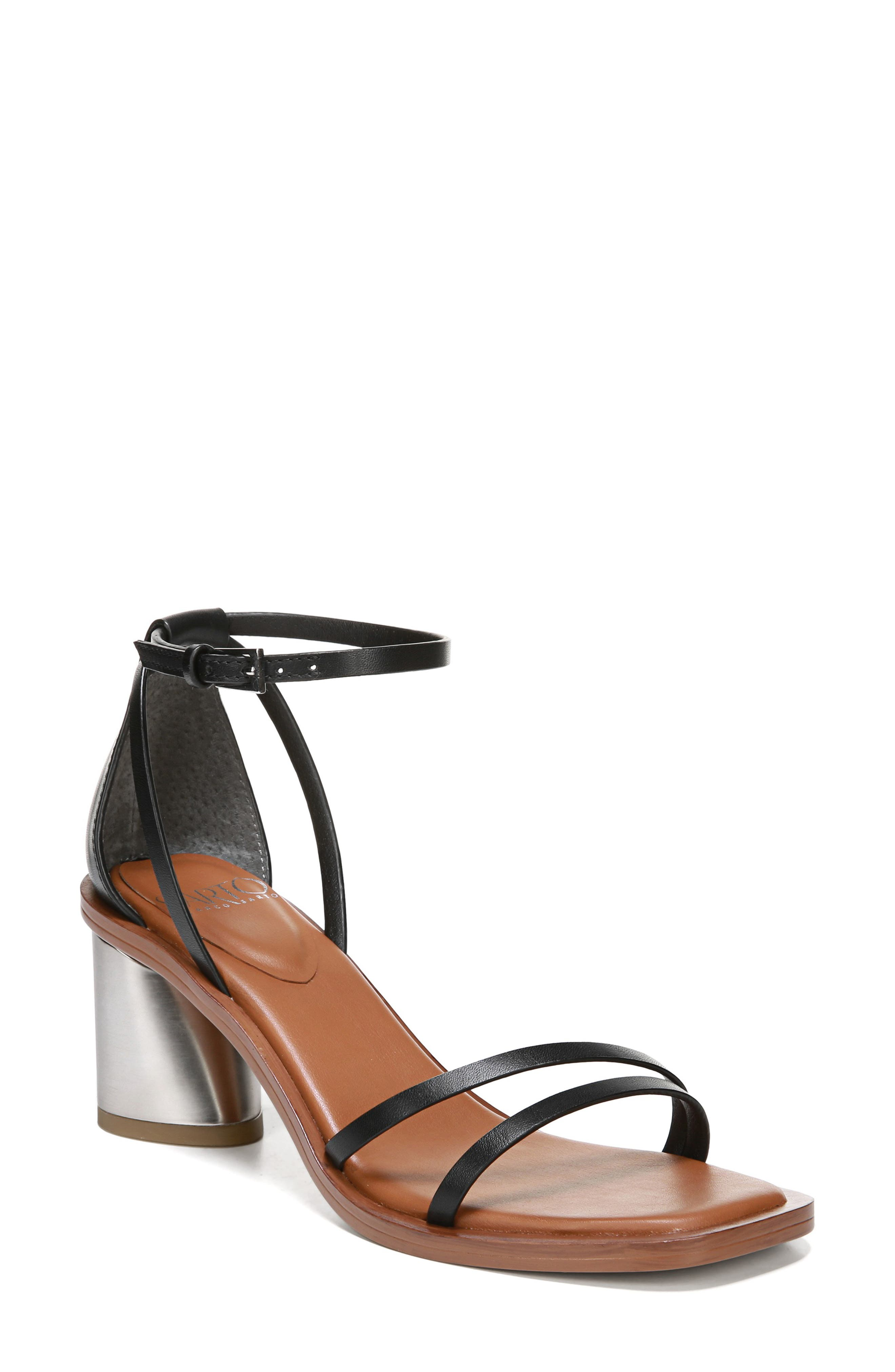 Sarto By Franco Sarto A-Ronelle Ankle Strap Sandal, Black