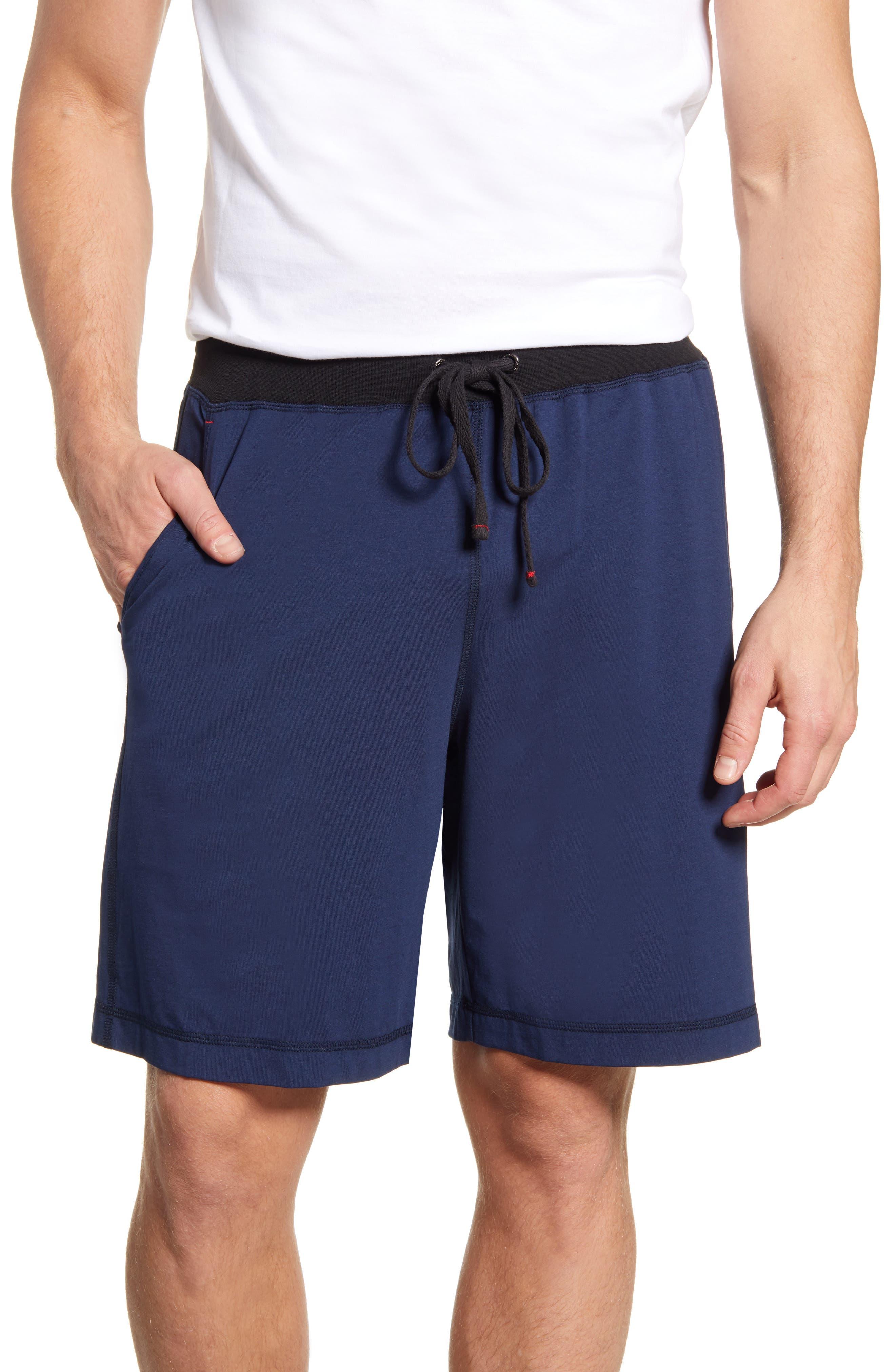 Daniel Buchler Cotton & Modal Pajama Shorts, Blue