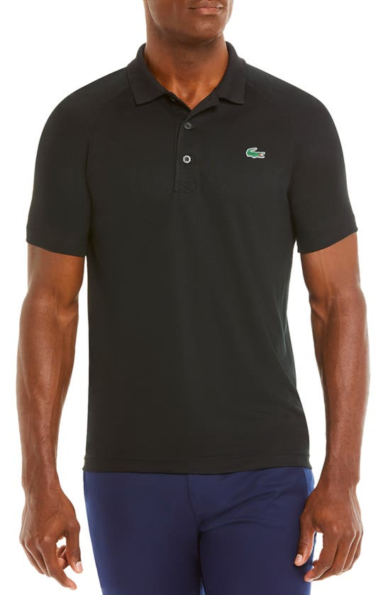 Lacoste Sport Ultra Dry Performance Polo In Black