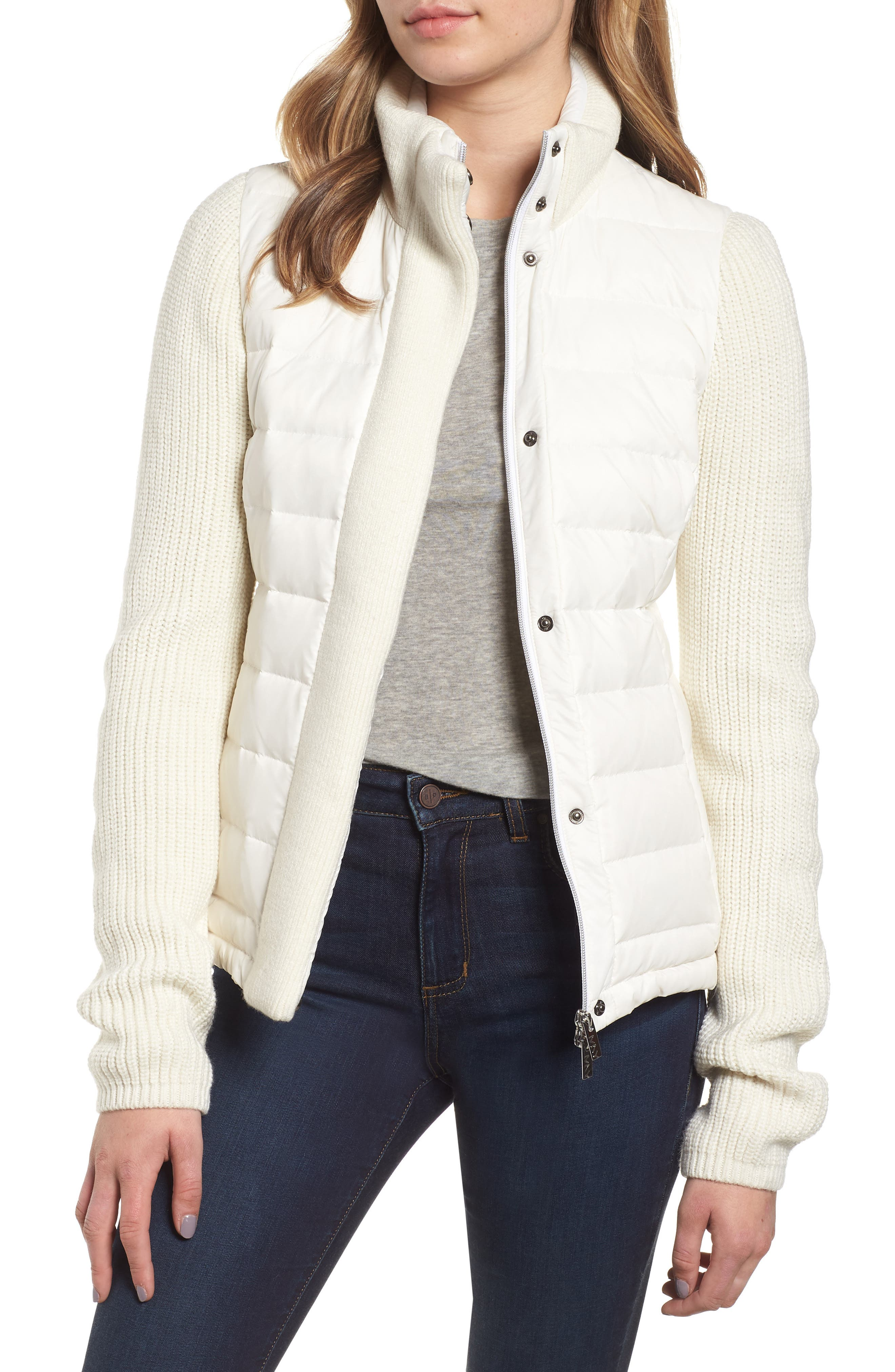 ,                             Mark New York Packable Knit Trim Puffer Jacket,                             Main thumbnail 14, color,                             900