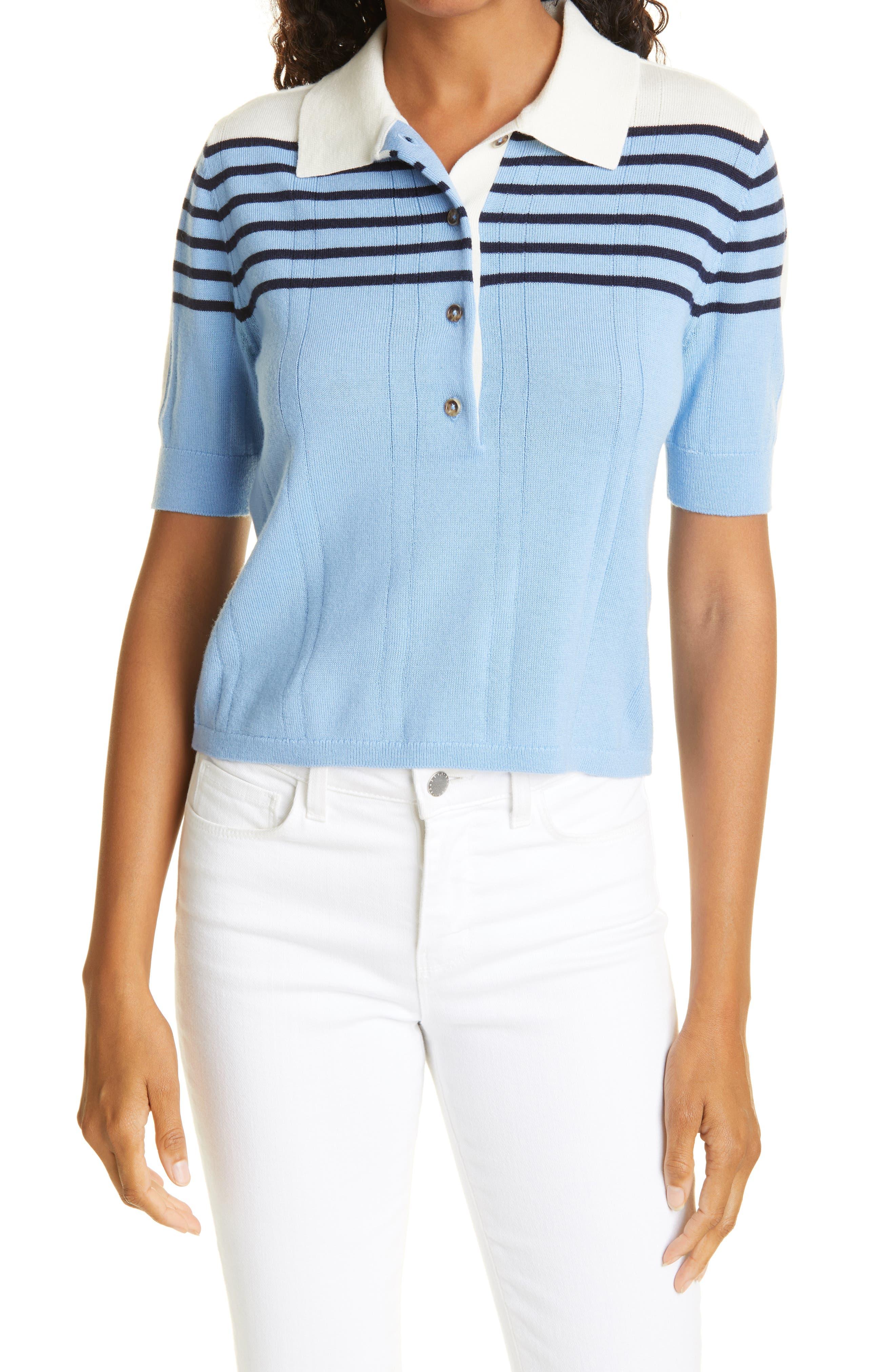 Short Sleeve Merino Wool Polo Shirt
