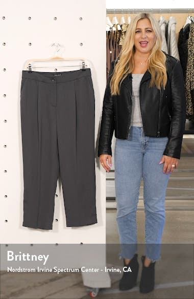 High Waist Crop Tencel<sup>®</sup> Lyocell Trousers, sales video thumbnail