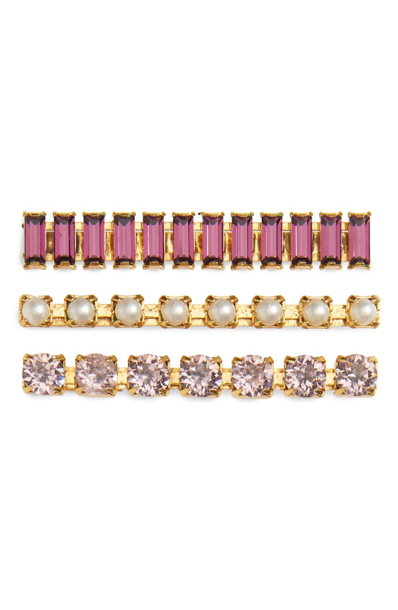 LELET NY 3-Pack Crystal Bobby Pins, Main, color, 710
