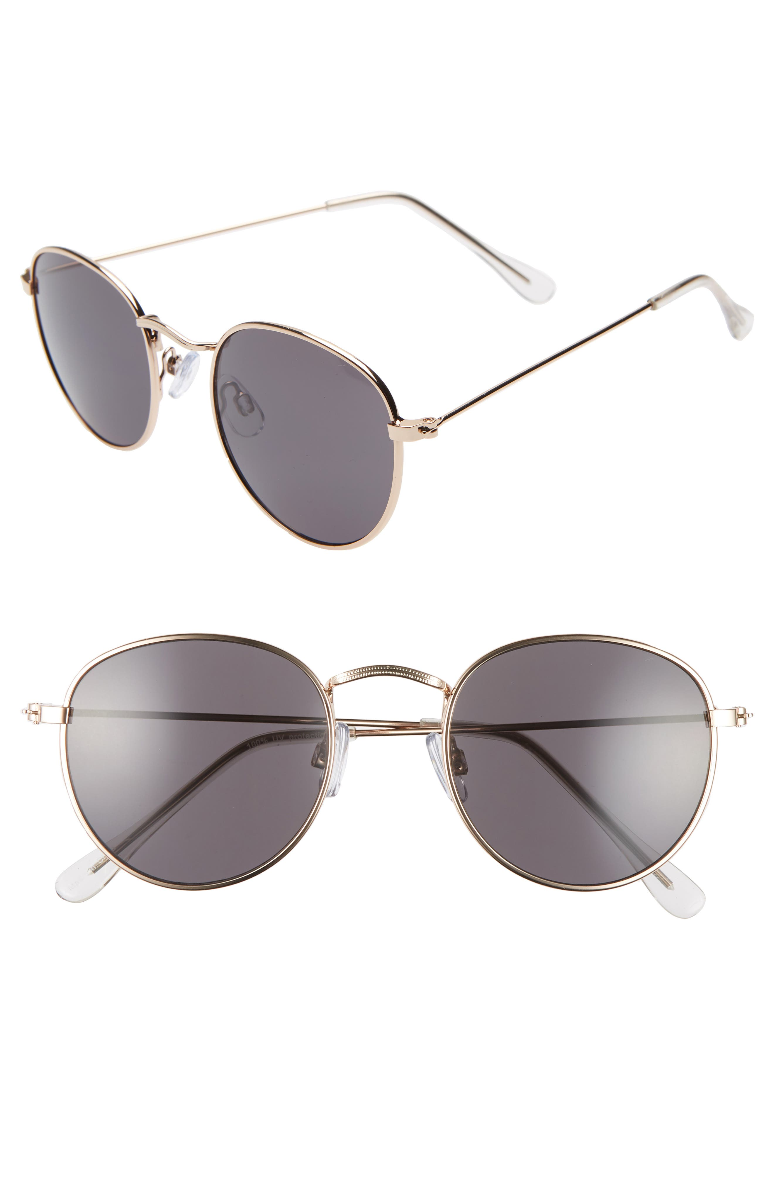 48mm Round Metal Sunglasses
