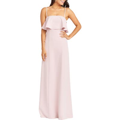 Show Me Your Mumu Monaco Strapless Ruffle Bodice Evening Gown, Pink