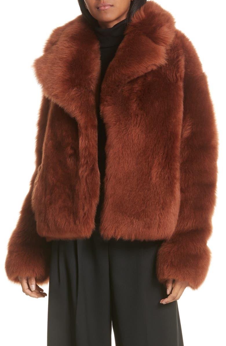 A.L.C. Dean Genuine Shearling Coat, Main, color, 800
