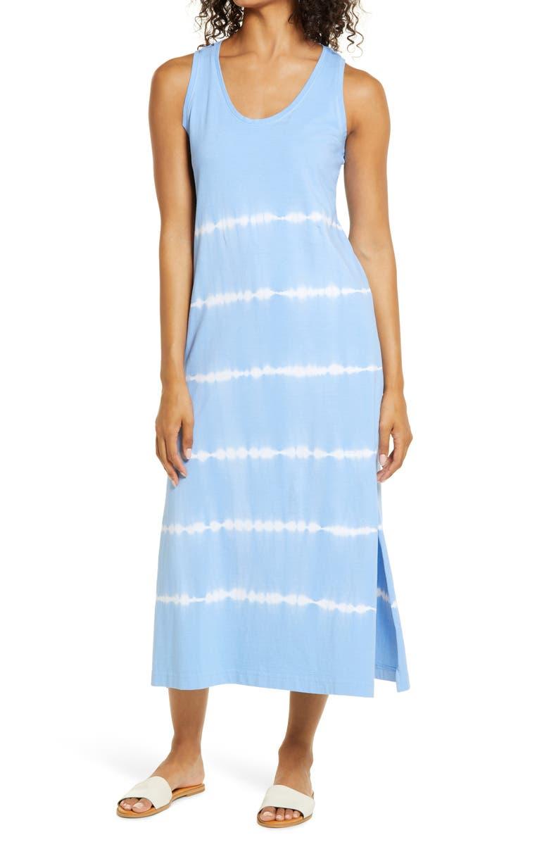 VINEYARD VINES Tie Dye Dress, Main, color, BIMINI BLUE V2