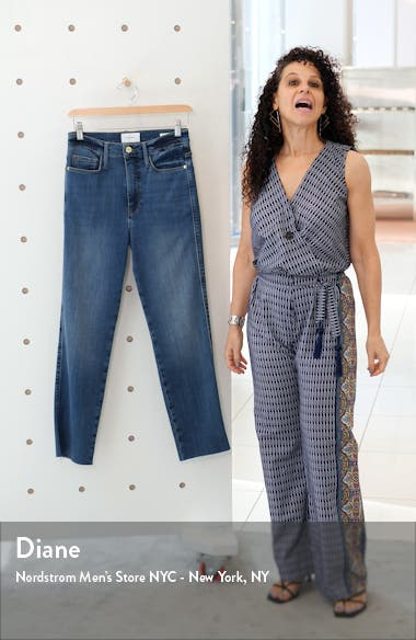 Le Sylvie Crop Straight Raw Edge Jeans, sales video thumbnail