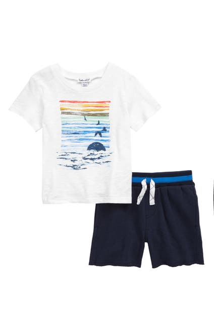Image of Splendid Sunset Graphic Tee & Shorts Set