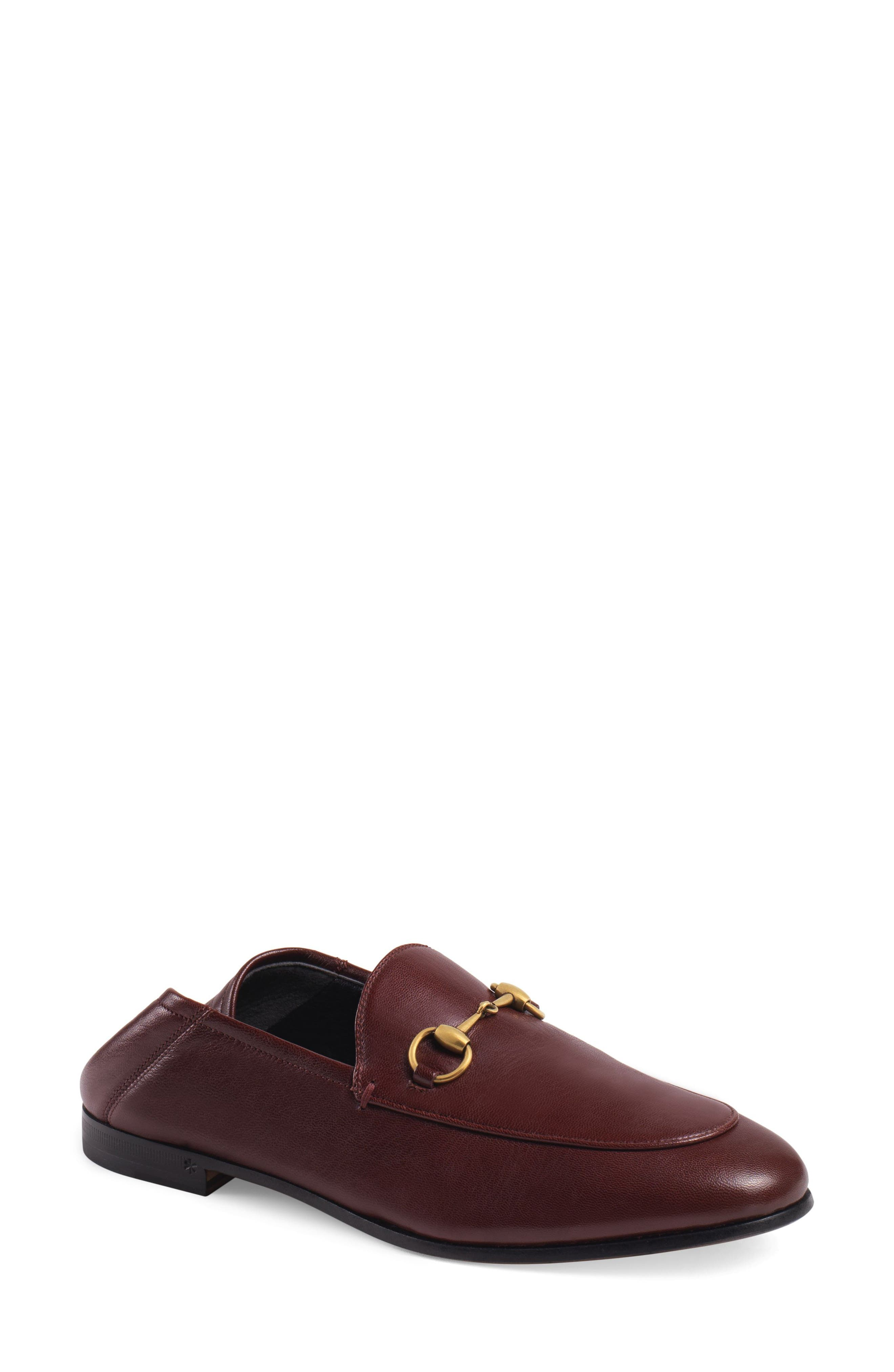 Gucci Brixton Convertible Loafer, Burgundy