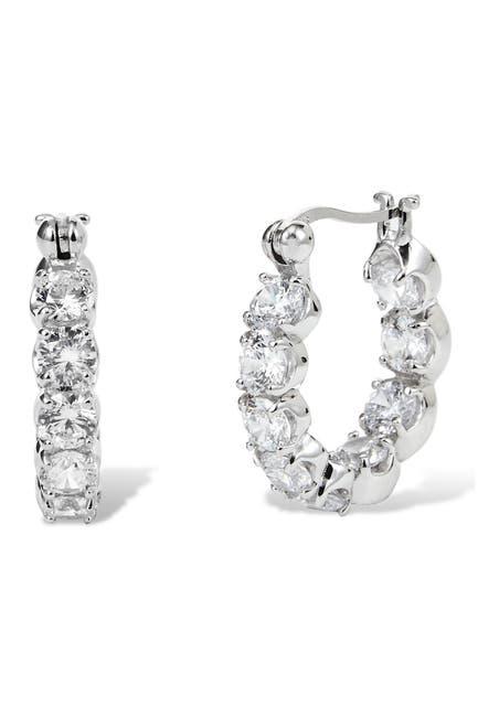 Image of Savvy Cie Sterling Silver 20mm Chubby Hoop Earrings