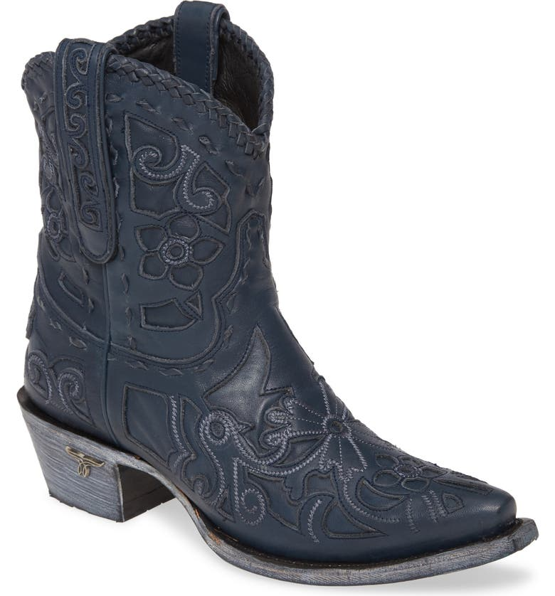 LANE BOOTS Robin Western Boot, Main, color, NAVY LEATHER