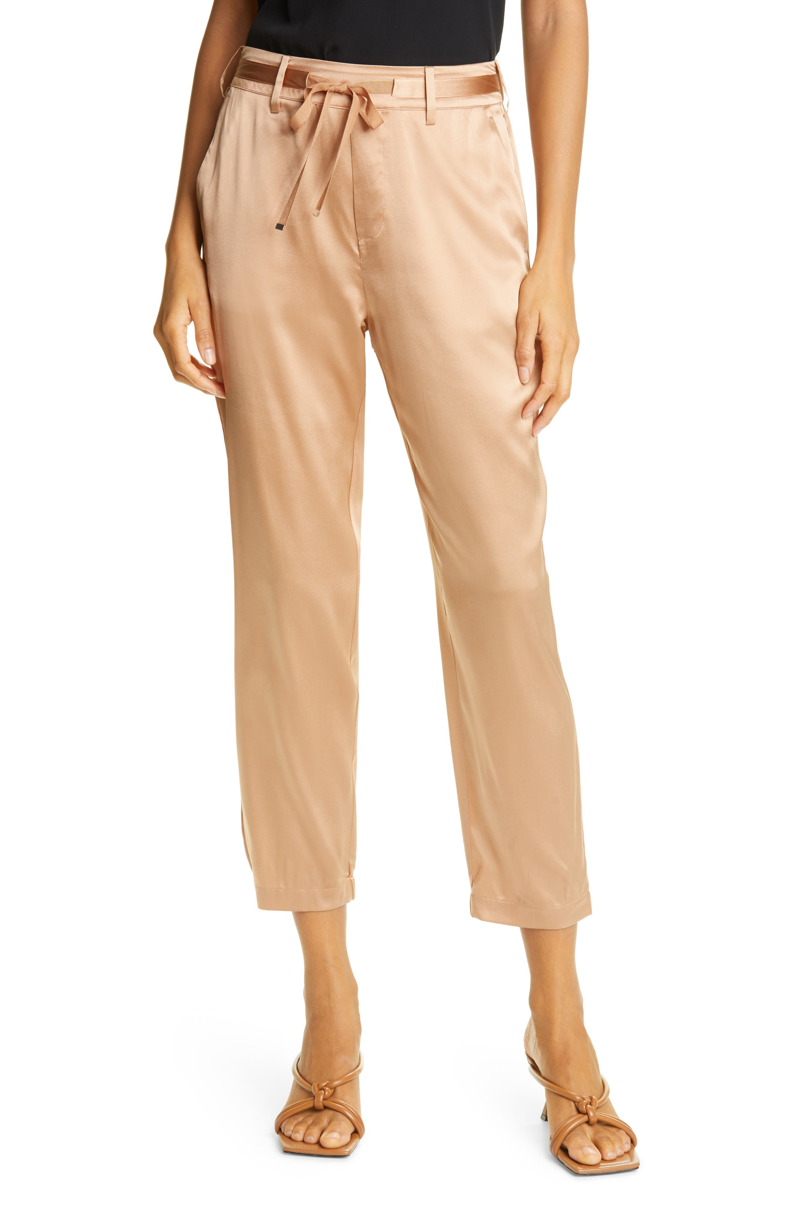 Alex Crop Silk Blend Pants